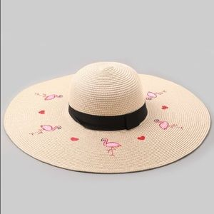 🌸FLAMINGO LIGHT BROWN SUN HAT